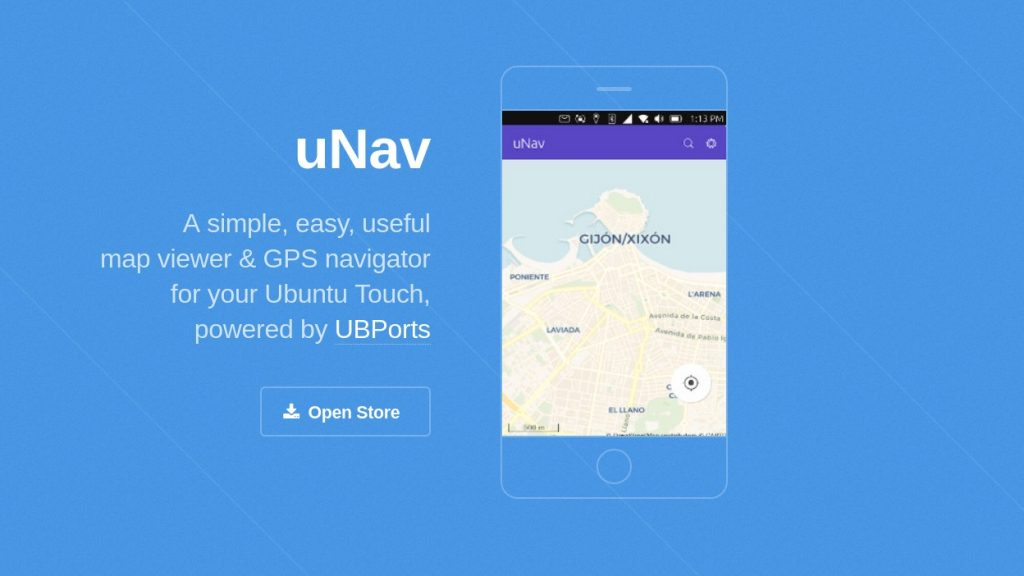 uNav is simple & easy GPS navigator for Ubuntu Touch devices.