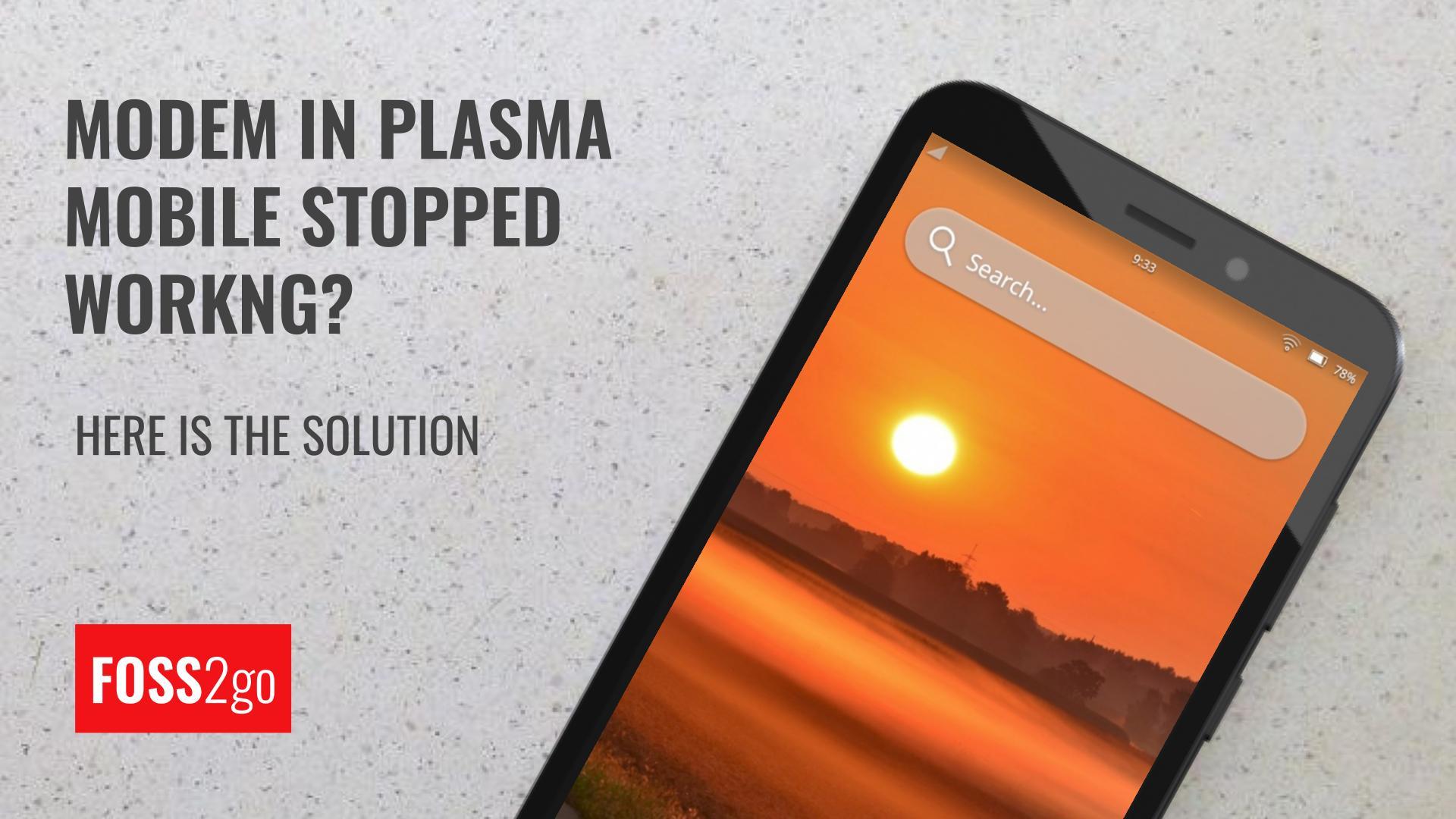Plasma Mobile restart oFono
