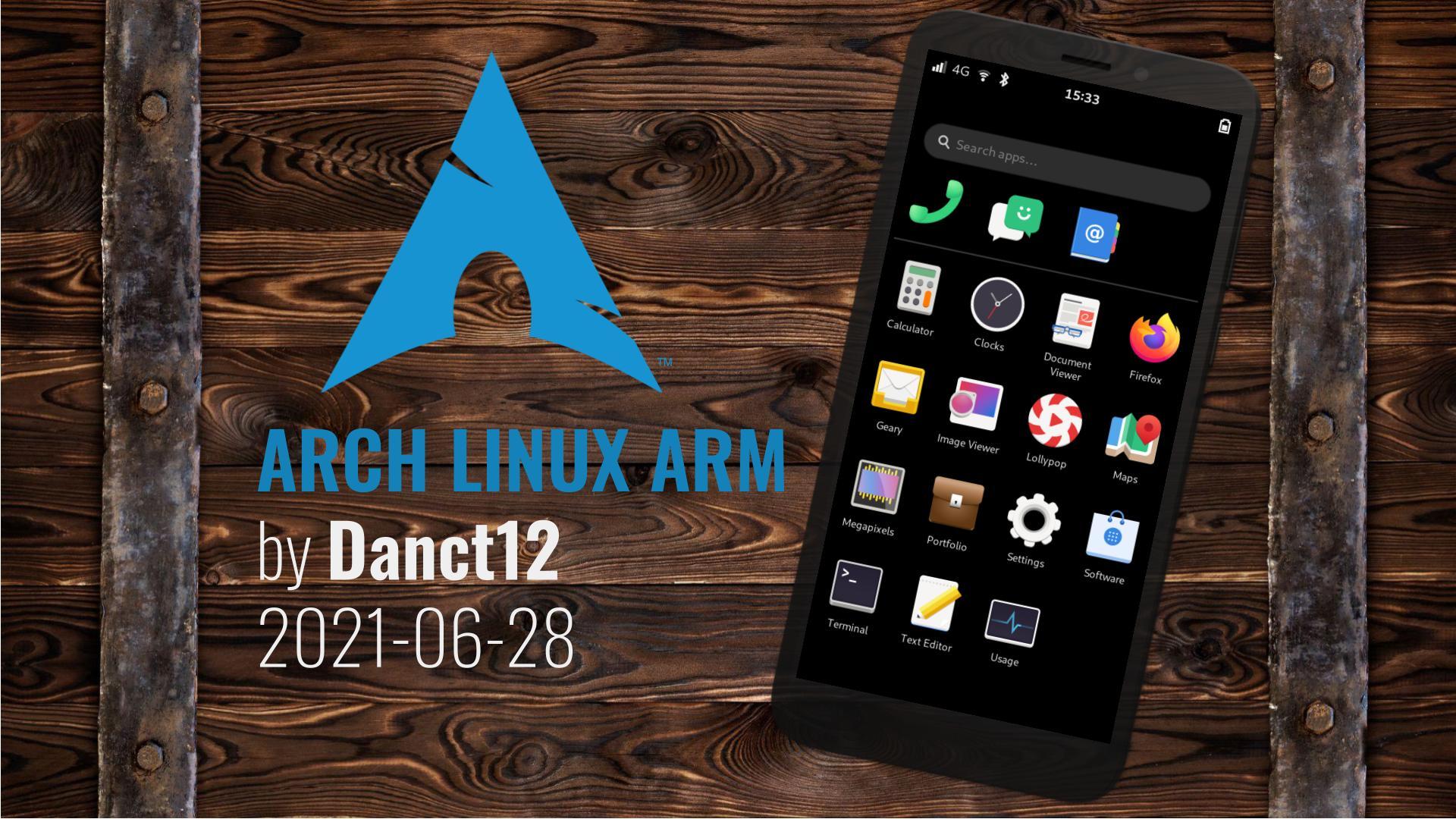 Arch Linux ARM 20210628 – calls 0.3.4, phoc 0.7.1, Plasma 5.22.2